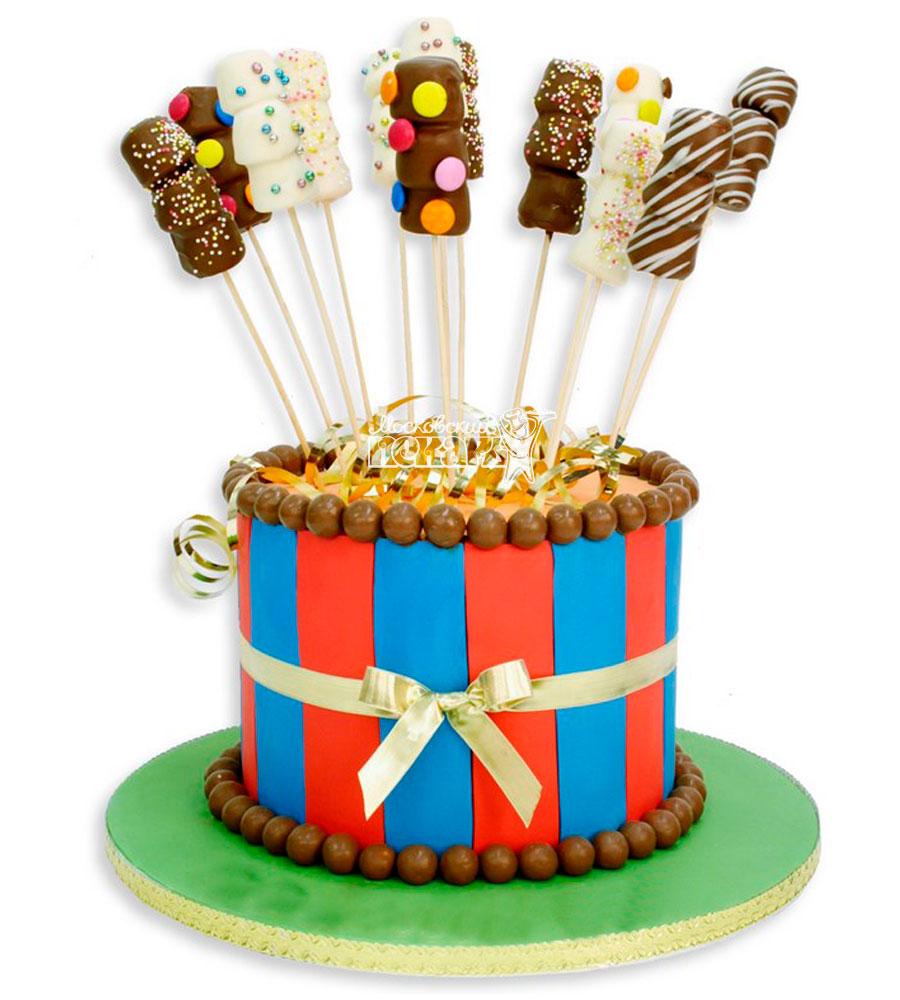 №943 Детский торт с конфетами