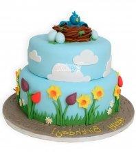 №945 Детский торт с птицей