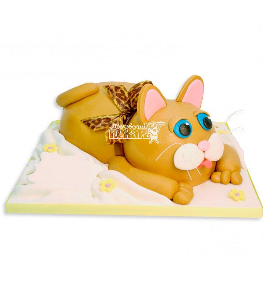 №969 Детский торт с котиком
