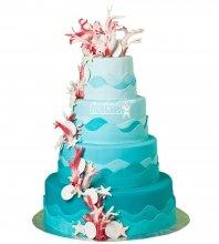 №981 Свадебный торт с кораллами