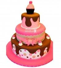 №983 Свадебный торт с шоколадом