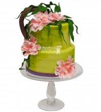 №982 Свадебный торт с цветами