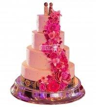 №984 Свадебный торт с цветами