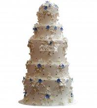 №985 Свадебный торт с цветами