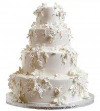 №987 Свадебный торт с цветами