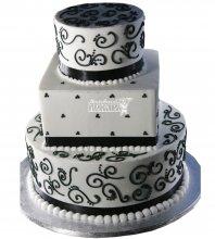 №988 Свадебный торт с узорами