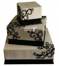 №996 Свадебный торт с узорами