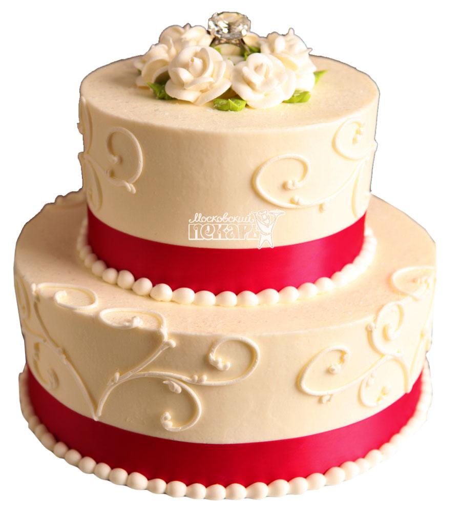 №1001 Свадебный торт с цветами