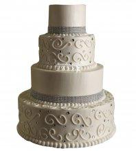 №1003 Свадебный торт с узорами