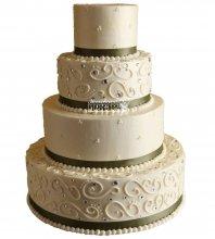 №1005 Свадебный торт с узорами