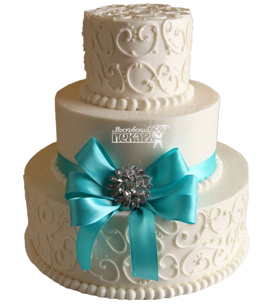 №1006 Свадебный торт с узорами
