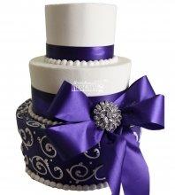 №1007 Свадебный торт с узорами