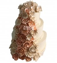 №1009 Свадебный торт с цветами