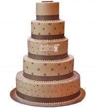 №1011 Свадебный торт классический