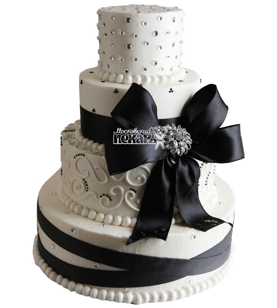 №1012 Свадебный торт с узорами