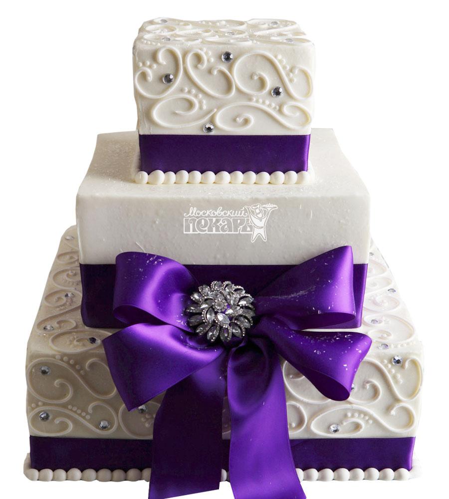 №1013 Свадебный торт с узорами