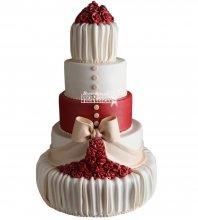 №1016 Свадебный торт с цветами
