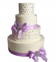 №1020 Свадебный торт классический