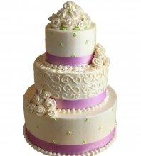 №1021 Свадебный торт с цветами