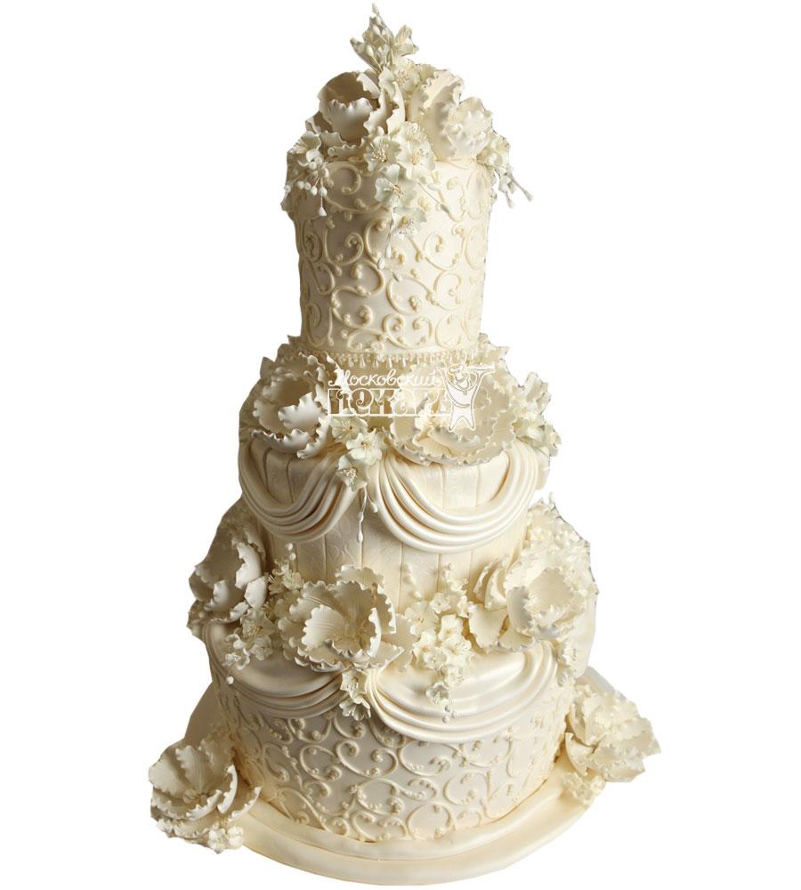 №1031 Свадебный торт классический