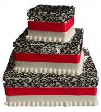 №1032 Свадебный торт с узорами