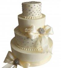 №1035 Свадебный торт классический