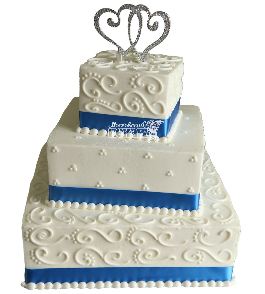 №1038 Свадебный торт с узорами