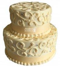 №1039 Свадебный торт с узорами