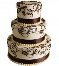 №1041 Свадебный торт с узорами