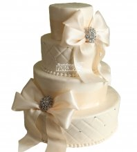 №1042 Свадебный торт классический