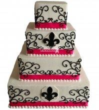 №1046 Свадебный торт с узорами