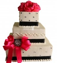 №1047 Свадебный торт с цветами