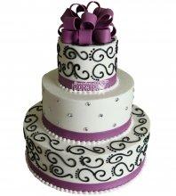 №1048 Свадебный торт с узорами