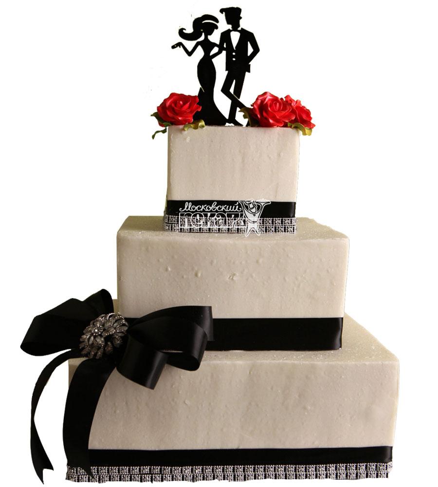 №1054 Свадебный торт классический