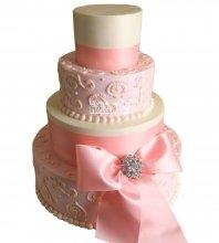 №1055 Свадебный торт с узорами