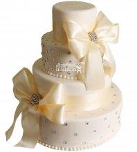 №1056 Свадебный торт классический