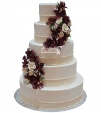 №1058 Свадебный торт с цветами