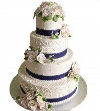 №1060 Свадебный торт с цветами