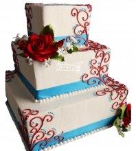 №1062 Свадебный торт с цветами