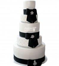№1064 Свадебный торт классический