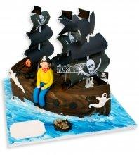 №1068 3D Детский торт с пиратом