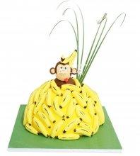 №1071 3D Детский торт с обезьянкой