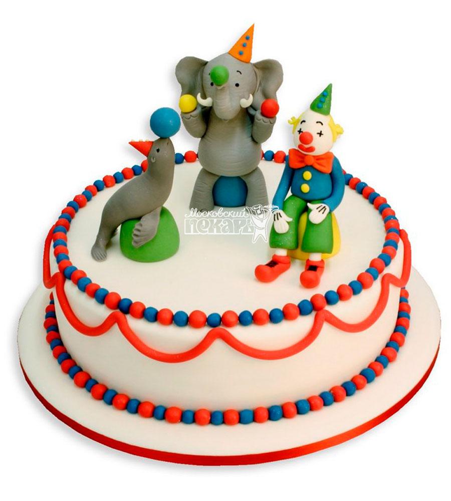 №1076 Детский торт цирк