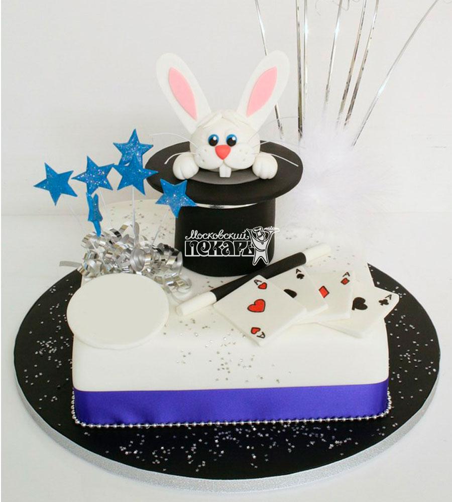 №1083 Детский торт кролик в шляпе
