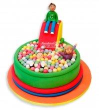 №1087 Детский торт мальчик на горке