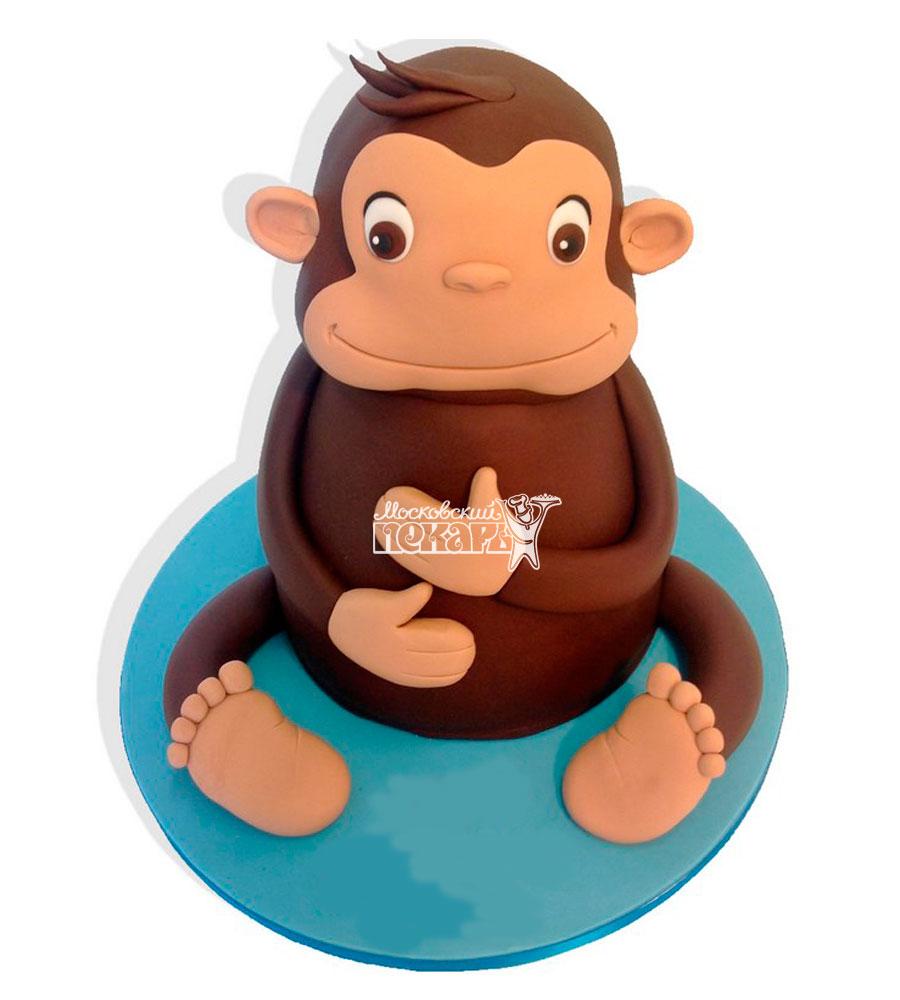 №1095 Детский торт с обезьянкой