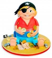 №1107 3D Детский торт пират