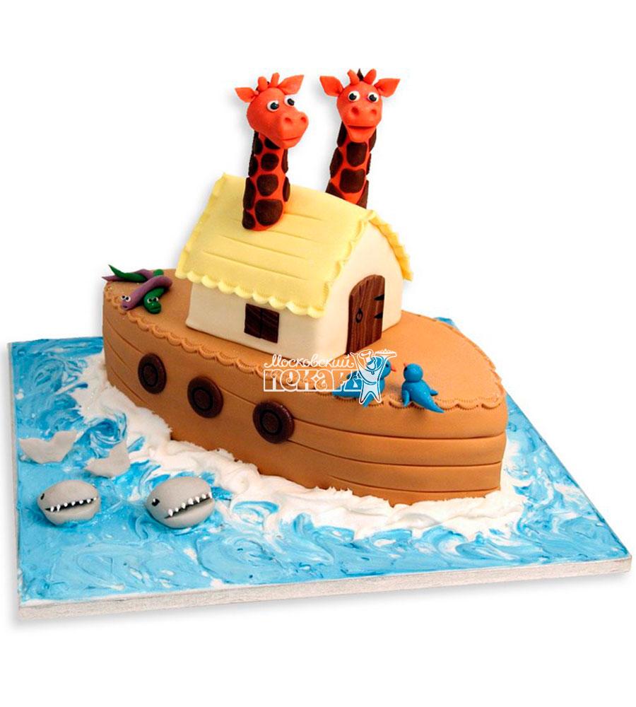 №1114 Детский торт корабль