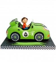 №1119 Детский торт ребенок в машинке