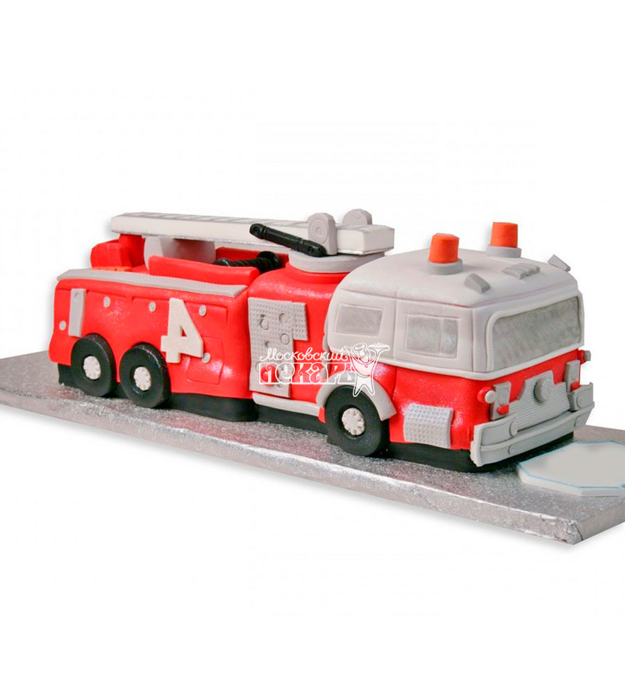 №1124 3D торт пожарная машина